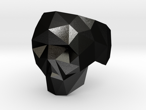 Low-poly Skull Ring in Matte Black Steel: 5 / 49
