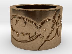 Superheros Engraved Ring in Natural Brass: 4 / 46.5