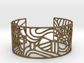 Cuff abstract no. 12 in Polished Bronze