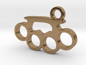 Knuckle Pendant in Natural Brass