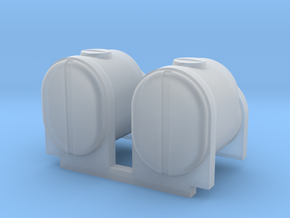 2 Square Bottom Tanks 200 Gal in Smooth Fine Detail Plastic