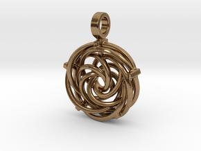 Vortex Pendant III (Precious Metal Release) in Natural Brass
