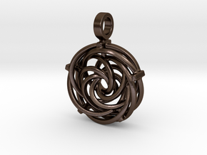 Vortex Pendant III (Precious Metal Release) in Polished Bronze Steel
