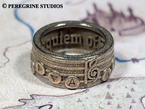 Ring - Requiem of Spirit in Polished Bronzed Silver Steel: 13 / 69