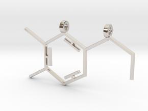 Dopamine Pendant in Rhodium Plated Brass