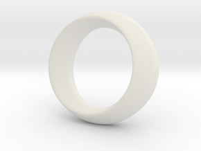 Opus Ring - Bracelet P=180mm in White Natural Versatile Plastic