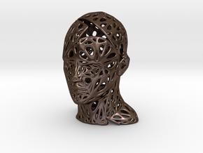 Male Voronoi Head Scale 0.5 in Polished Bronze Steel