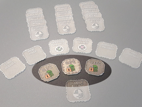 A.S.I.E. Safe tokens (4 pcs) in White Processed Versatile Plastic