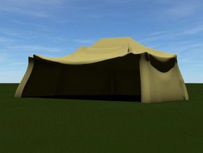 German Tent Hangar (Small) in Green Strong & Flexible Polished: 1:144
