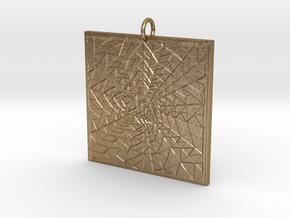 Portal Pendant in Polished Gold Steel
