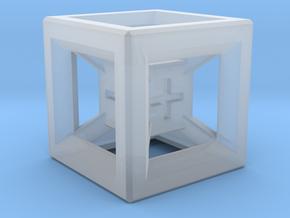 Fudge Dice Hypercube 1.5cm (D3) in Smoothest Fine Detail Plastic