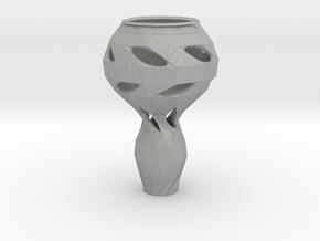 Geometrically Organic Vase in Aluminum