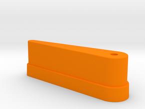 "CSF#2 - 2 7/8"" Long - Pinball Flipper Bat in Orange Processed Versatile Plastic"