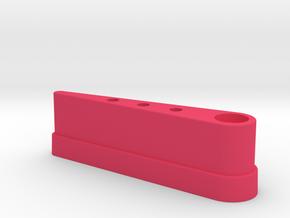 "CSF#6 - 3 1/8"" Long - Pinball Flipper Bat GB PKE in Pink Processed Versatile Plastic"