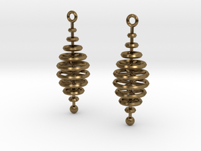 Ring-Stack Earrings in Natural Bronze