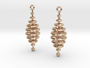 Ring-Stack Earrings in 14k Rose Gold Plated