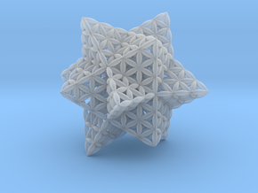 """Stellated Flower of Life Vector Equilibrium 2.3"""" in Smooth Fine Detail Plastic"""