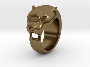 Panther Ring Size - 7,5 in Polished Bronze