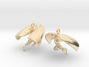 Draco Earring 1 in 14k Gold Plated Brass