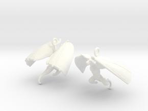 Draco Earring 1 in White Processed Versatile Plastic