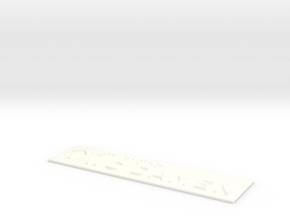 WC DAMEN mit Pfeil nach oben in White Processed Versatile Plastic