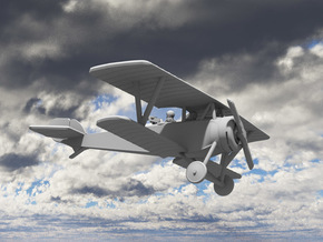 Nieuport 12 (Beardmore) in White Strong & Flexible: 1:144