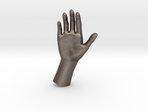 1/10 Hand 003 in Polished Bronzed Silver Steel