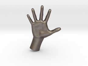 1/10 Hand 010 in Polished Bronzed Silver Steel