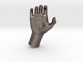 1/10 Hand 026 in Polished Bronzed Silver Steel