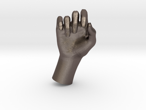 1/10 Hand 027 in Polished Bronzed Silver Steel