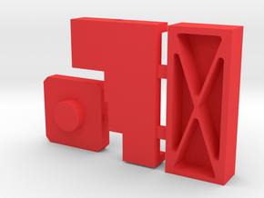 3d Printing PLASTIC in Red Processed Versatile Plastic