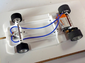 Slot car chassis for C9 1/28 in White Natural Versatile Plastic