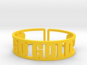 Go Gold Cuff in Yellow Processed Versatile Plastic