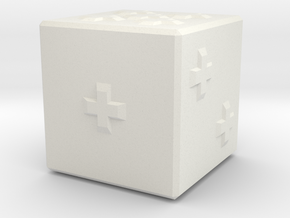 Tactile D6 in White Natural Versatile Plastic