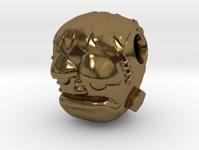 Reversible Frankenstein head pendant in Polished Bronze