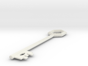 League Hex Chest Key in White Natural Versatile Plastic