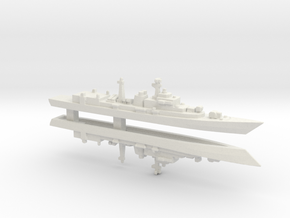 Type 052 Destroyer x 2, 1/3000 in White Strong & Flexible