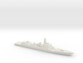 Type 052D Destroyer, 1/3000 in White Natural Versatile Plastic