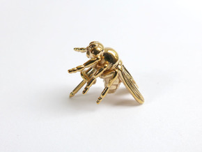 Drosophila Fruit Fly Lapel Pin in Polished Bronze