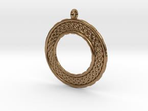 TreeSin Pendant in Natural Brass