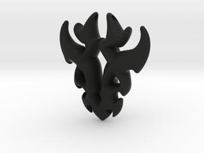 Antler Pendant in Black Natural Versatile Plastic