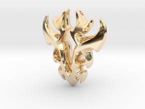 Antler Pendant in 14k Gold Plated Brass