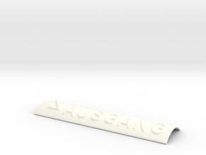 AUSGANG mit Pfeil nach rechts unten in White Processed Versatile Plastic