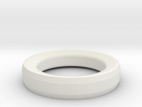 Prototype Ring design 3  for RFID Tag in White Natural Versatile Plastic