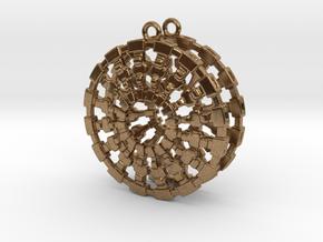 Treyu Earrings in Natural Brass
