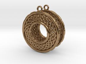 TreeSin Earrings in Natural Brass