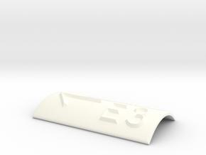 E3 mit Pfeil nach links in White Processed Versatile Plastic