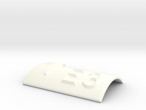 E3 mit Pfeil nach oben in White Processed Versatile Plastic