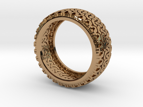 Tire Band ring in Polished Brass