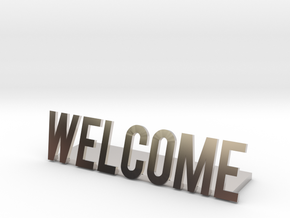 Welcome logo desk business in Platinum